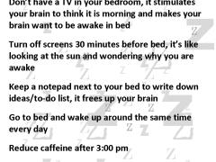 Nine ways to get better sleep