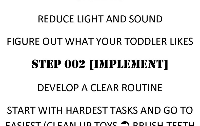 Ten-minute Toddler Turnaround | sleep