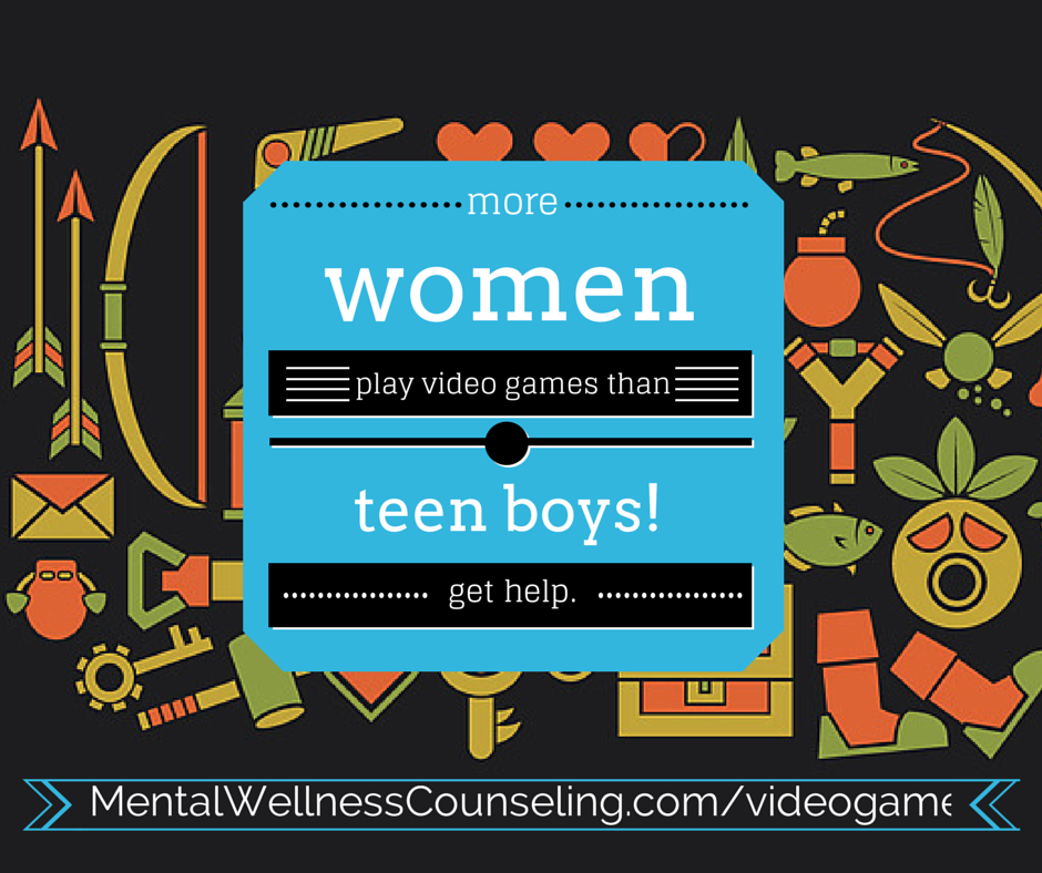 video game addiction women teens