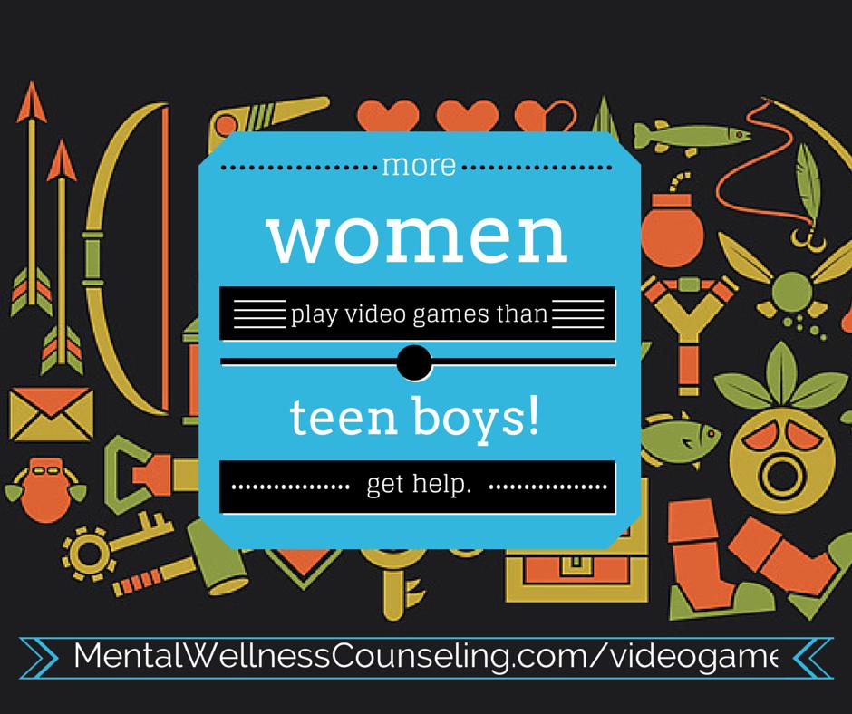 video game addiction women teens